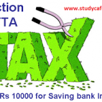 Section 80TTA  Deduction- Interest on Saving deposits Deduction