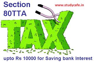 Section 80TTA Deduction- Interest on Saving deposits Deduction, Section 80TTA, Section 80TTA of Income Tax Act, 80tta deduction