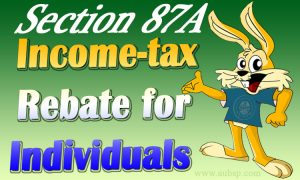 Rebate under Section 87A of Income Tax Act,1961