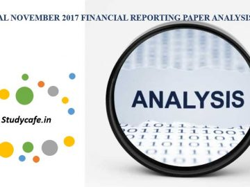 CA Final November 2017 Financial Reporting Paper Analysis