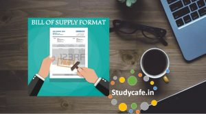 What is a Bill of Supply in GST