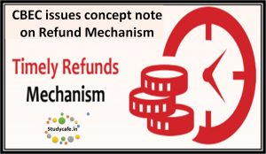 CBEC issues concept note on Refund Mechanism