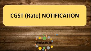 CGST Rate Notification No. 20/2017-Central Tax (Rate) dated 22.08.17