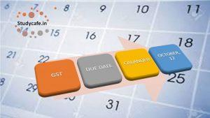 GST Due Date Calendar October 2017