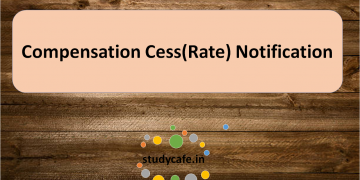 GST Notification no. 3/2017 - Compensation Cess (Rate) dated 18.07.2017