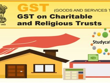 gst on charitable and religious trusts