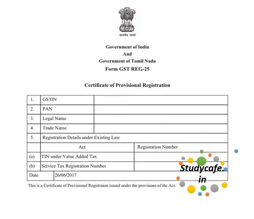 Display of registration certificate and Goods and Services Tax - Studycafe