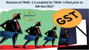 Revision of TRAN -1 is enabled for TRAN -1 filed prior to 9th Nov'2017