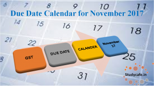 Due Date Calendar for Nov 2017