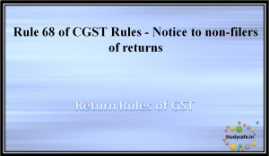 Rule 68 of CGST Rules -Notice to non-filers of returns
