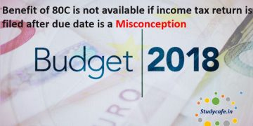 Benefit of 80C is not available if income tax return is filed after due date is a misconception