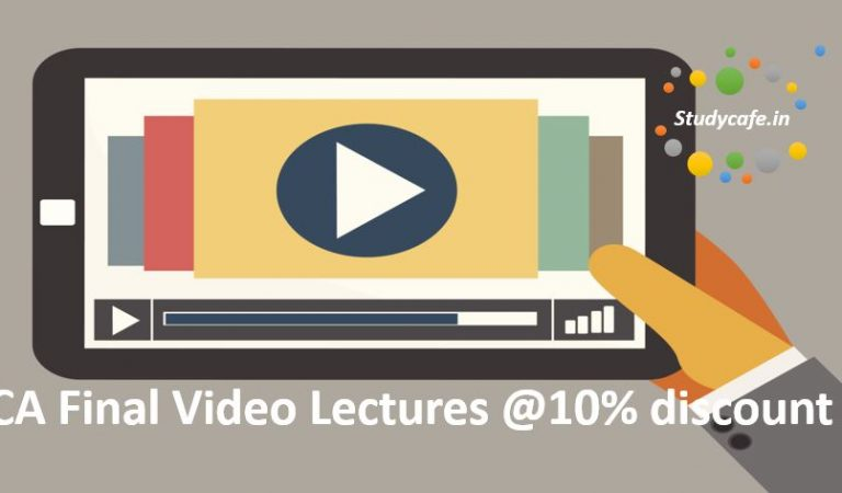 Buy Video Lectures for CA Final Nov 2018