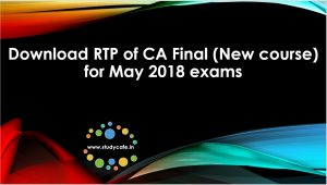 Download RTP of CA Final New course