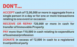 Cash transactions under Income tax act 1961 (Finance Act 2017)