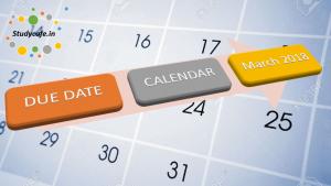 Due date calendar of Mar,2018 | GST Due date calendar for March, 2018