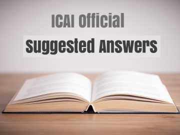 CA IPCC May 2018 Question Papers with suggested Answers