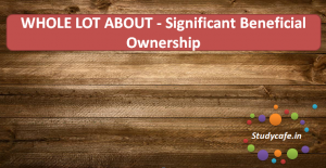 WHOLE LOT ABOUT - Significant Beneficial Ownership