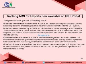 Tracking ARN for Exports is now available on GST Portal