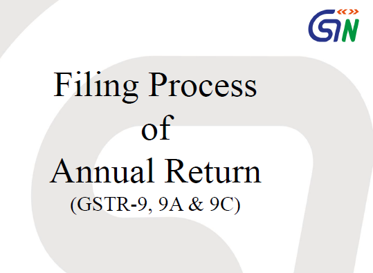 Filing Process of GST Annual Return GSTR 9
