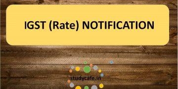16/2018-Integrated Tax (Rate) : Seeks to amend notification No. 10/2017- Integrated Tax (Rate)