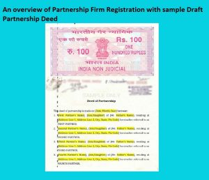 An overview of Partnership Firm Registration with sample Draft Partnership Deed