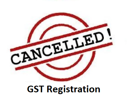 Under which circumstances can a Tax Official initiate for cancellation of GST registration?