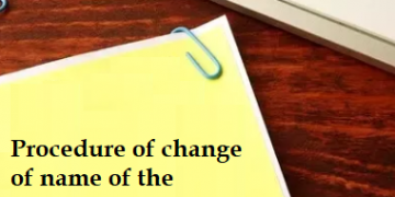 Procedure of change of name of the company