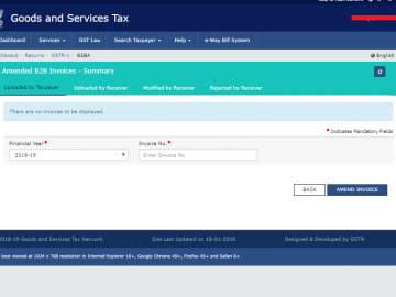 How to Amend B2B invoices in GSTR 1