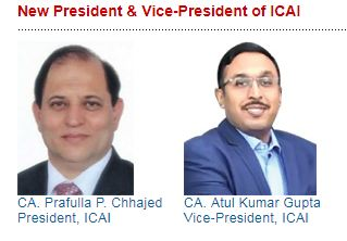 ICAI Elects New President & Vide President for year 2019-20