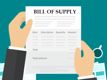 Service provider opting for Composition Scheme to issue Bill of Supply instead of Tax Invoice
