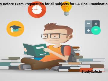 One Day Before Exam Preparation for all subjects for CA Final Examinations