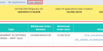 Filing Application for Withdrawal of Summary Assessment Order