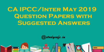 CA IPCC/Inter November 2019 Question Papers with Suggested Answers