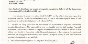 Extension of due date of DPT-3 for exempt deposits not justified: MCA