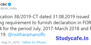 Requirement to furnish declaration in FORM ITC-04 for the period July, 2017-March 2019 waived