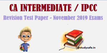 Download CA Inter/IPCC RTP Nov 2019|Download IPCC Revision Test Papers