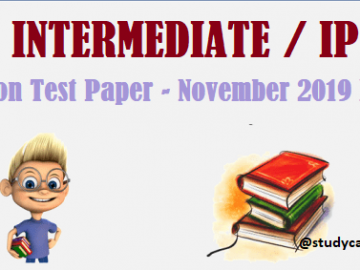 Download CA Inter/IPCC RTP Nov 2019|Download IPCC Revision Test Papers