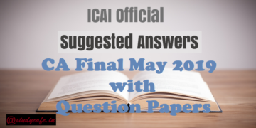 CA Final November 2019 Suggested Answers with Question Papers