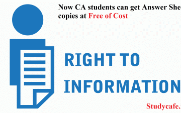 Now CA students get Answer Sheet copies at Free of Cost under RTI: Supreme Court Orders!