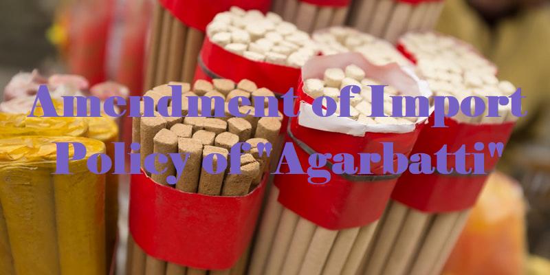 Government puts Ban on import of Agarbatti