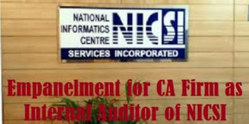Empanelment for CA Firm as Internal Auditor of NICSI