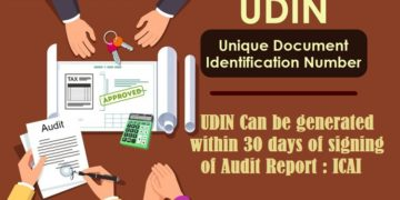 ICAI Official Notification on Extension of time limit of UDIN generation from 15 days to 30 days