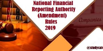 National Financial Reporting Authority (Amendment) Rules, 2019
