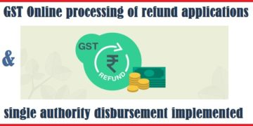 GST Online processing of refund applications and single authority disbursement implemented