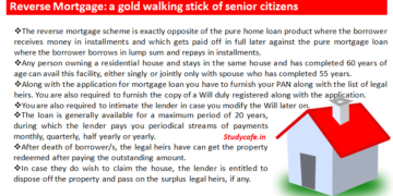 Reverse Mortgage: a gold walking stick of senior citizens
