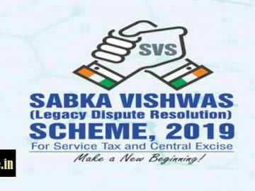 Sabka Vishwas (Legacy Dispute Resolution) Scheme 2019