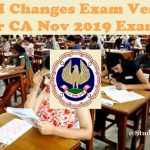 ICAI Changed Nov 2019 Examination Venue for Few Cities