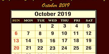 Corporate Compliance Calendar For the month of October 2019