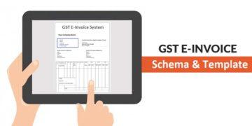 GST E-Invoice System concept note Standard Schema and Template