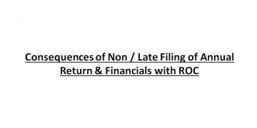Consequences of Non / Late Filing of Annual Return & Financials with ROC